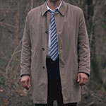 Castiel new thigh length trench coat