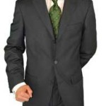 charcoal gray 3 button suit 2 piece suit