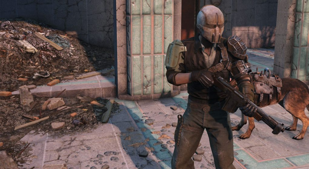 Fallout 4 Sole Survivor accessories shotgun and armor