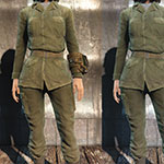 Fallout 4 Sole Survivor green military fatigues