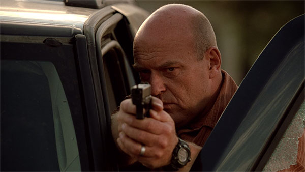 Hank Schrader Breaking Bad s2e2 pistol wrist watch