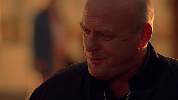Hank Schrader Breaking Bad s3e5 black zipup jacket