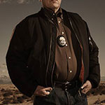 Hank Schrader casual black zip up jacket