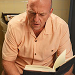 Hank Schrader orange casual button up shirt