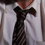 Jimmy McGill black diagonal striped neck tie