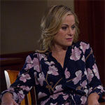 Leslie Knope blue pink flower dress
