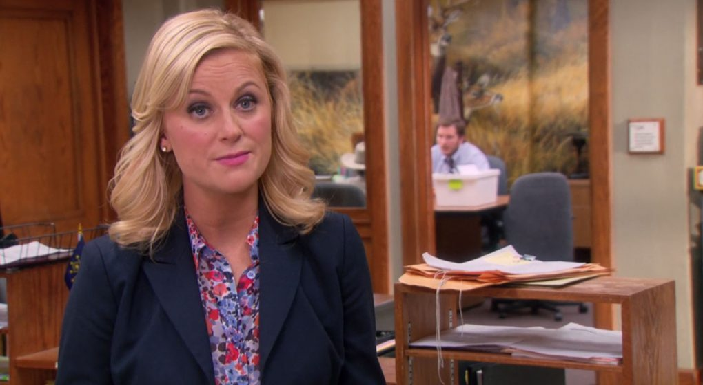 Leslie Knope Parks and Rec patterned blouse