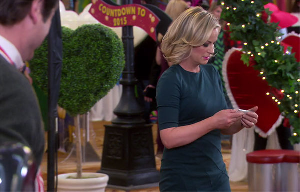 Leslie Knope Parks and Rec green dress