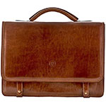 Maxwell Scott leather satchel classic tan