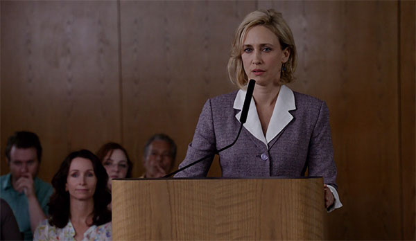 Norma Bates Bates Motel s2e1 purple skirt suit