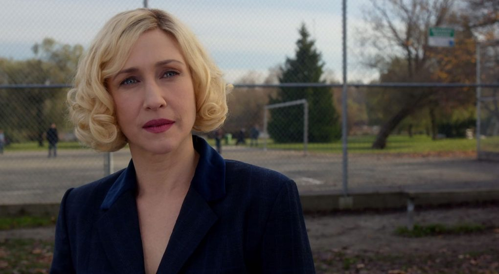 Norma Bates Bates Motel s3e3 blue suit