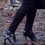 Norma Bates black stiletto booties