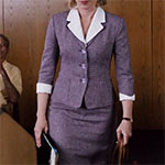 Norma Bates purple skirt suit