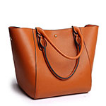 Obosoyo handbag synthetic leather tote bag brown