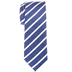 Retreetz blue white striped neck tie