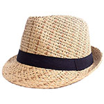 Simplicity straw fedora 745 brown