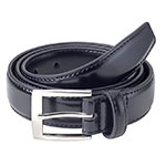 Sportoli stitched leather belt black
