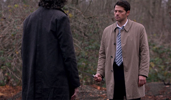Supernatural Castiel new suit shorter trench coat angel blade