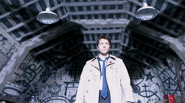 Supernatural Castiel suit trench coat angel wings