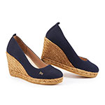Viscata Marquesa wedge pump closed toe navy