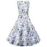 Yuny vintage swing floral dress