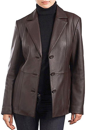 BGSD lambskin leather blazer