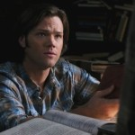 Sam Winchester blue plaid snap up shirt