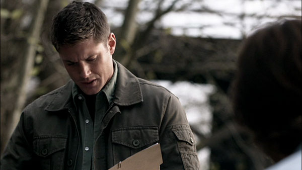 Supernatural Dean Winchester green Gap military jacket
