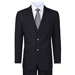 2 button regular fit suit black
