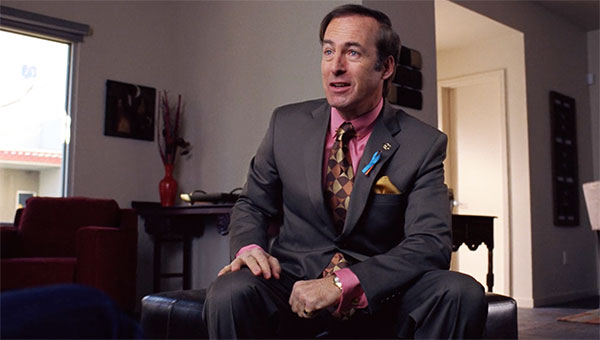 Breaking Bad Saul Goodman gray suit ribbon pin s4e3