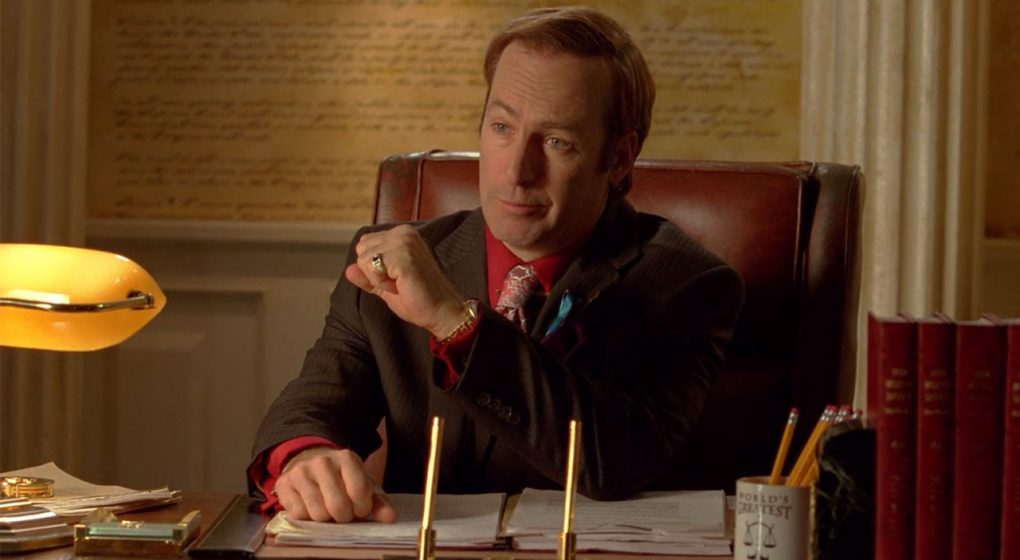Breaking Bad Saul Goodman pinstripe suit s3e11