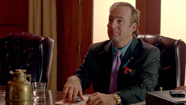 Breaking Bad Saul Goodman pinstripe suit s3e2