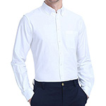 Long sleeve white dress shirt