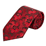 Pilotman floral neck tie red