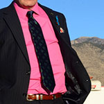 Saul Goodman pink dress shirt
