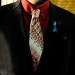Saul Goodman red pattern neck tie