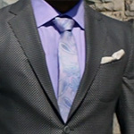 Shadow Moon Easter suit purple neck tie