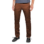 Match Mens flat front pants 8032 brown