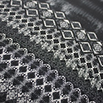 black diamond ombre pattern print wool dobby fabric