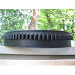 black leather cartridge belt
