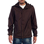Gioberti rain jacket brown