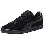 Puma suede shoes black black