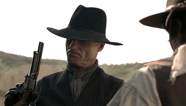 Westworld William Man in Black LeMat revolver s1e2