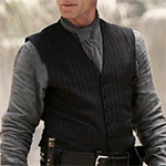 William Man in Black black striped vest